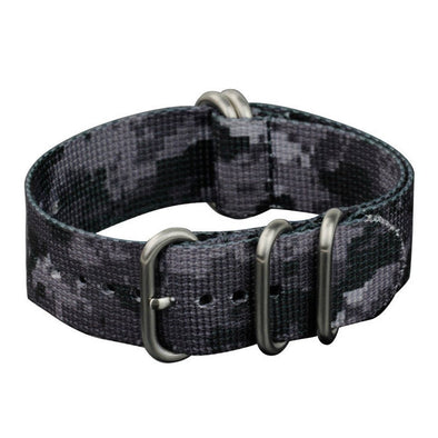 INFANTRY URBAN CAMO 22MM ZULU NYLON STRAP with SILVER RING (WS-ZULU-UR-22)