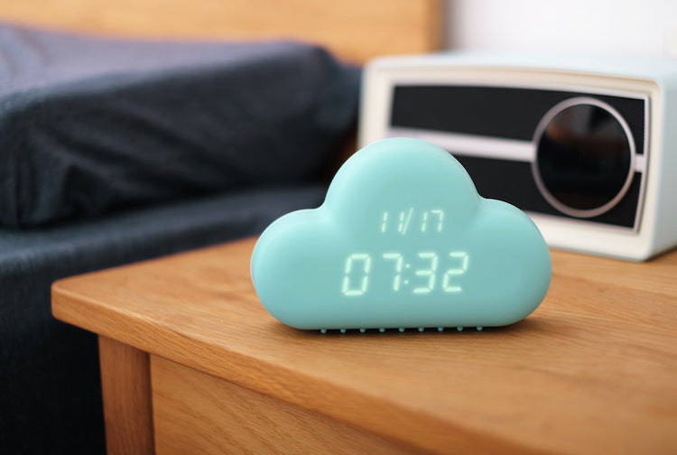 Baby Blue Cloudy Alarm Clock with LED Display