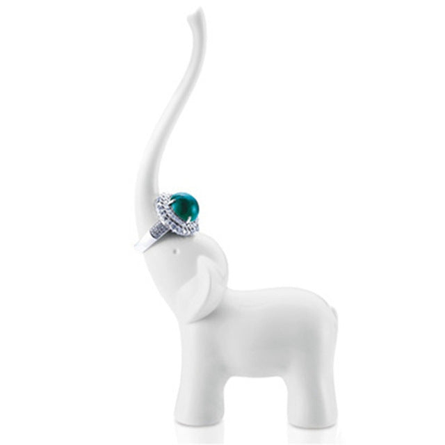 Elphy White Ring Holder