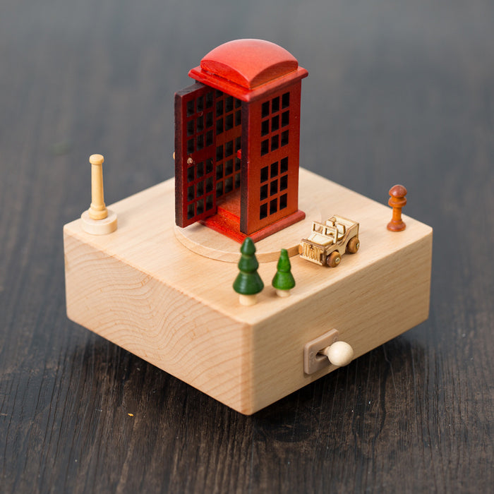 Artes Phone Booth Music Box