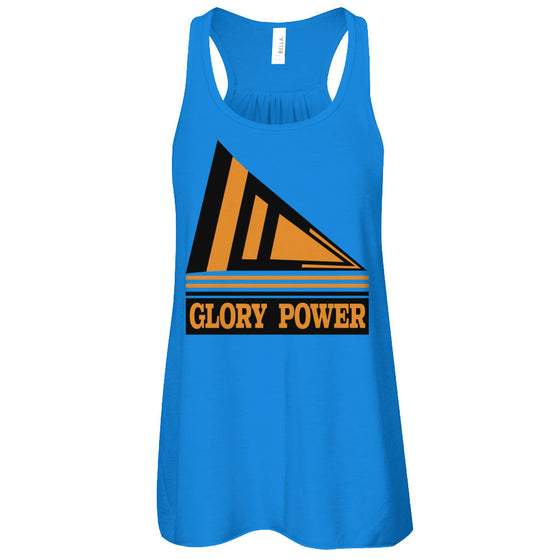 Flowry Racer Tank - Glory Power - $25.95