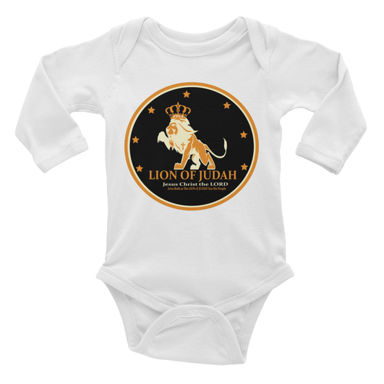 Infant long sleeve one-piece - Young Lions of JUDAH