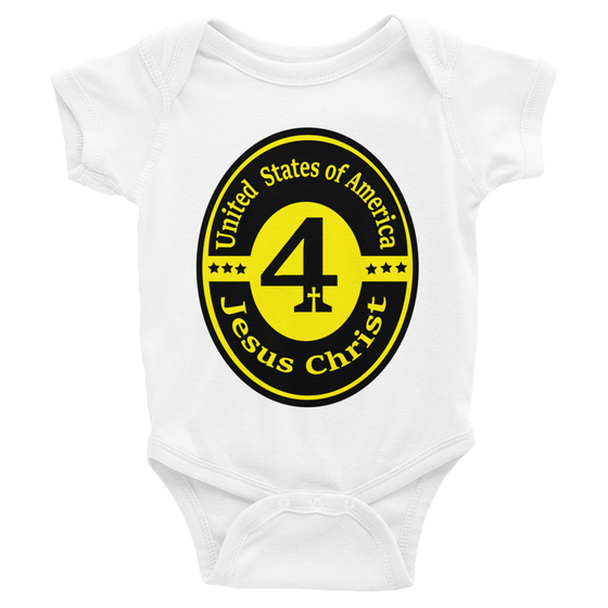 Infant short sleeve one-piece (Child of The KING - Decreed & Declared Favor in Jesus name)