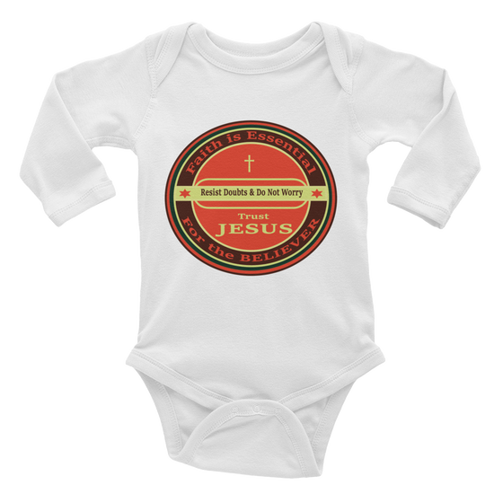 Infant long sleeve one-piece (Child of The KING - Decreed & Declared Favor in Jesus name)