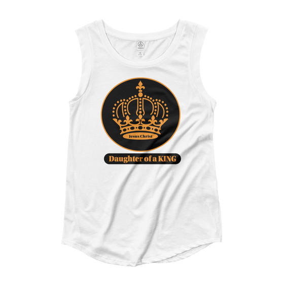 Ladies' Cap Sleeve T-Shirt (Daughter of the KING)