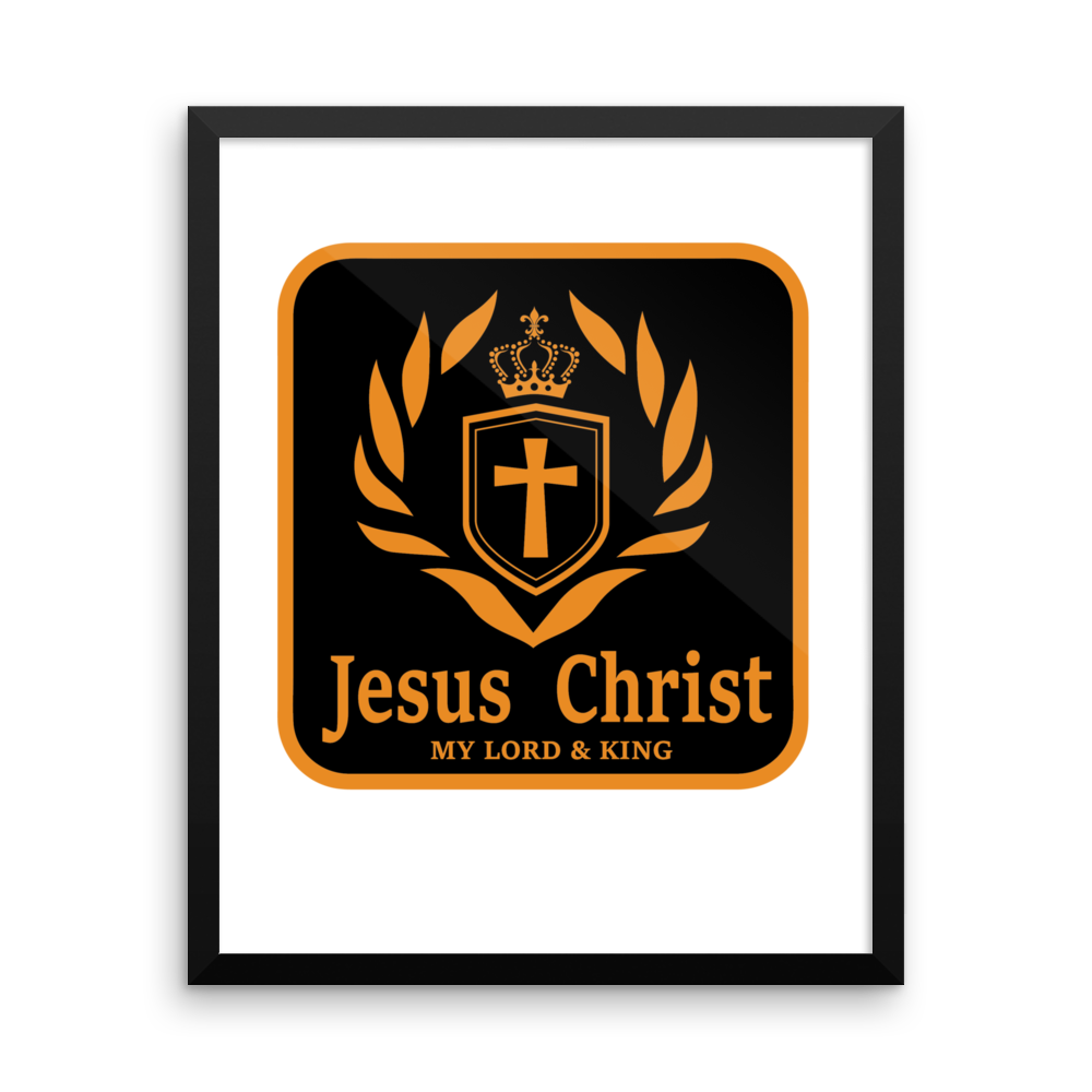 Framed photo paper poster (Jesus Christ the LORD & KING)