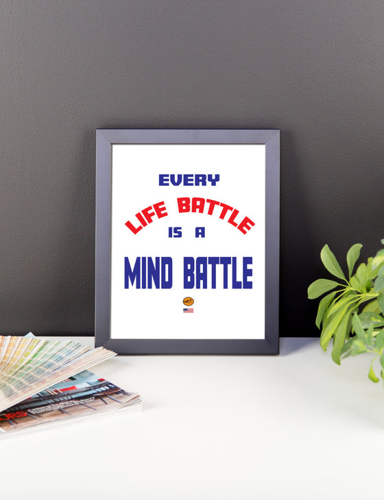 Framed photo paper poster - Life Battle