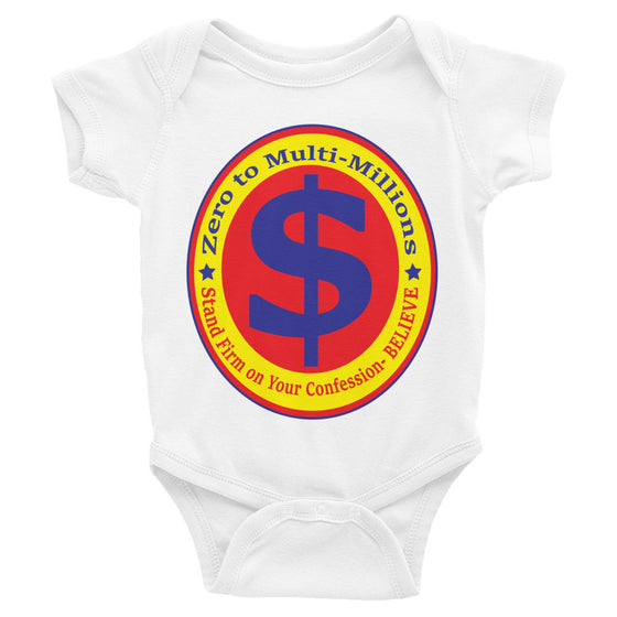 Infant short sleeve one-piece (Decreed & Declared Favor - Stand Firm in Jesus Christ Mom)