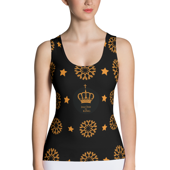 Sublimation Cut & Sew Tank Top (Jesus my KING)
