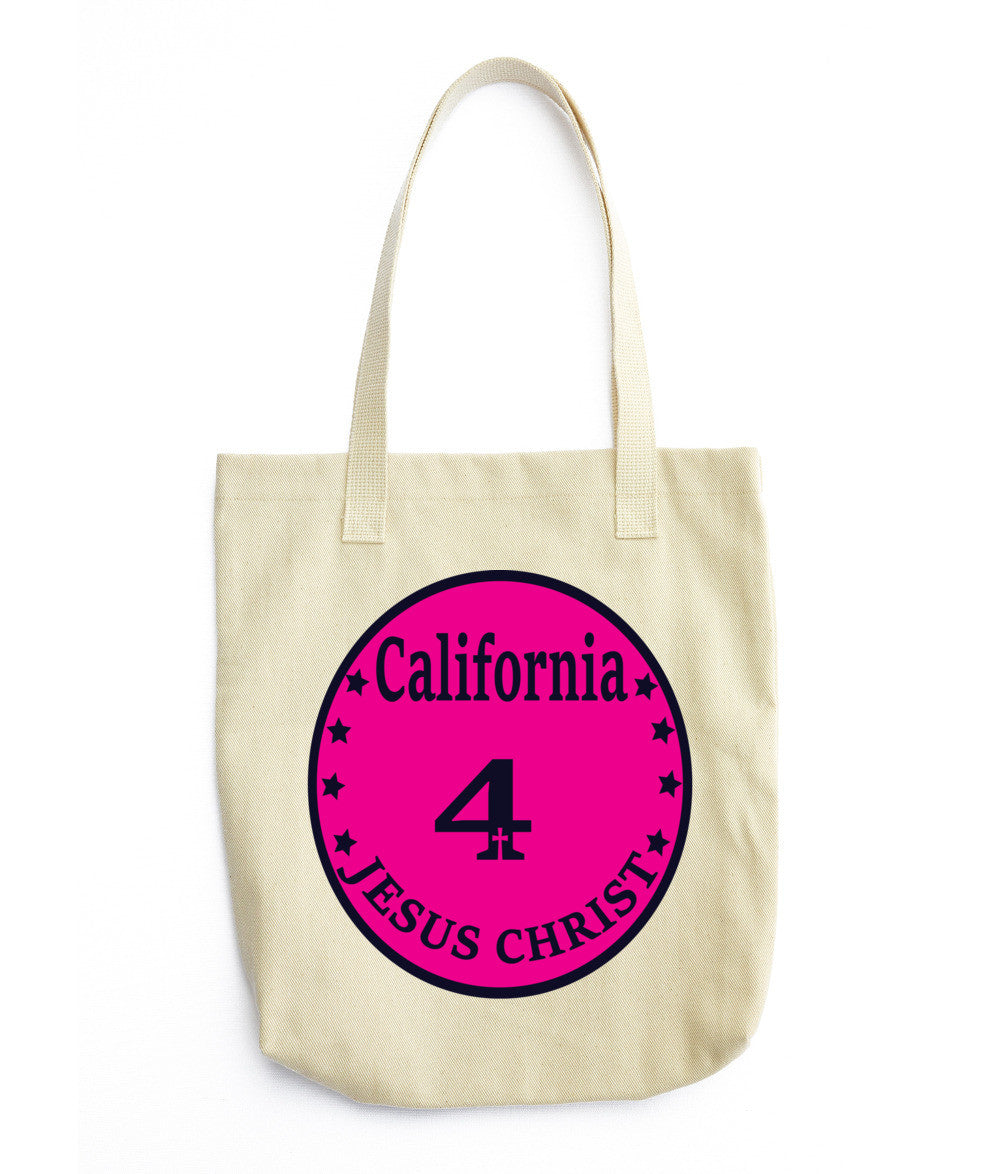 Tote bag (California 4 Jesus Christ Tote) - Both Sides Prints