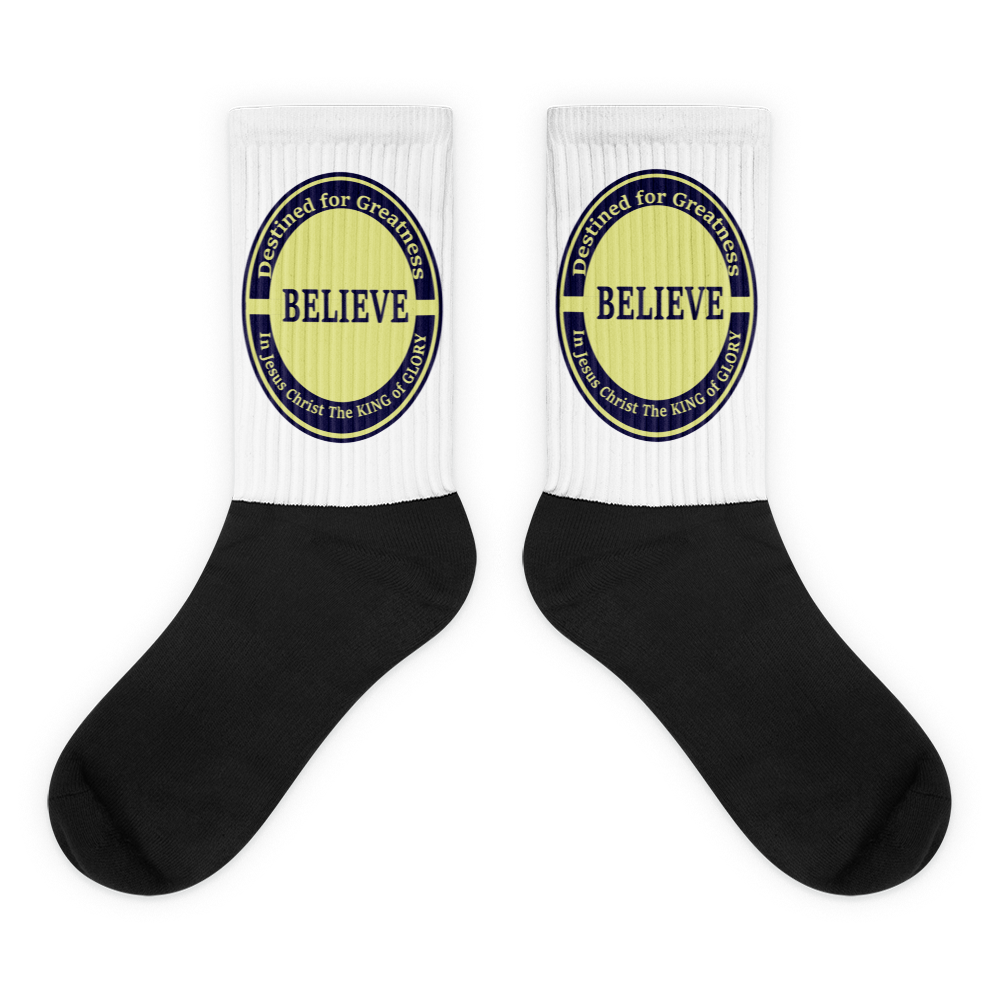 Black foot socks (Destined for Greatness in Jesus Mighty name)