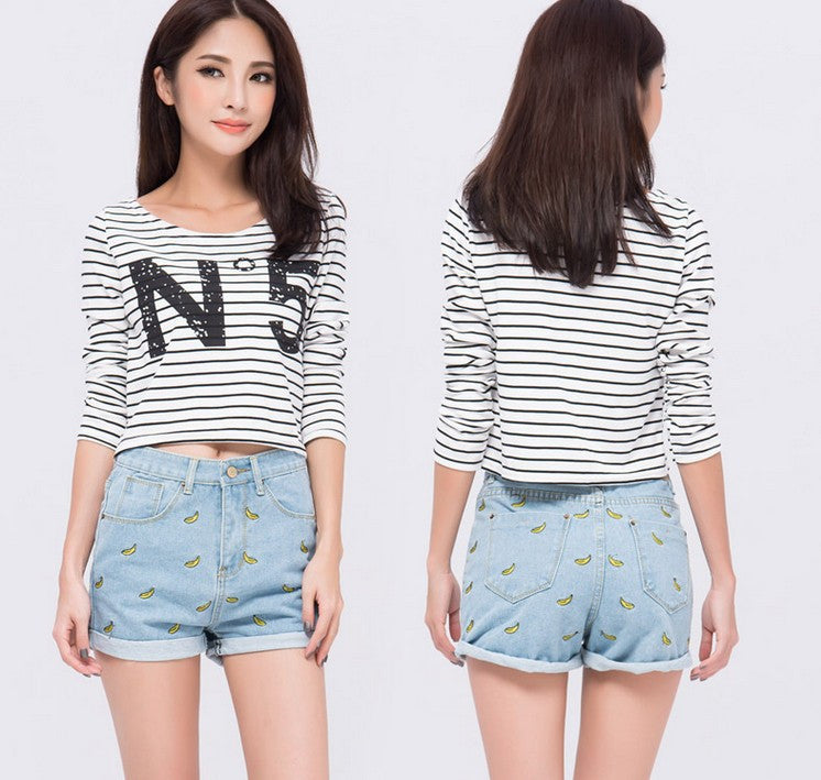 Banana Denim Shorts