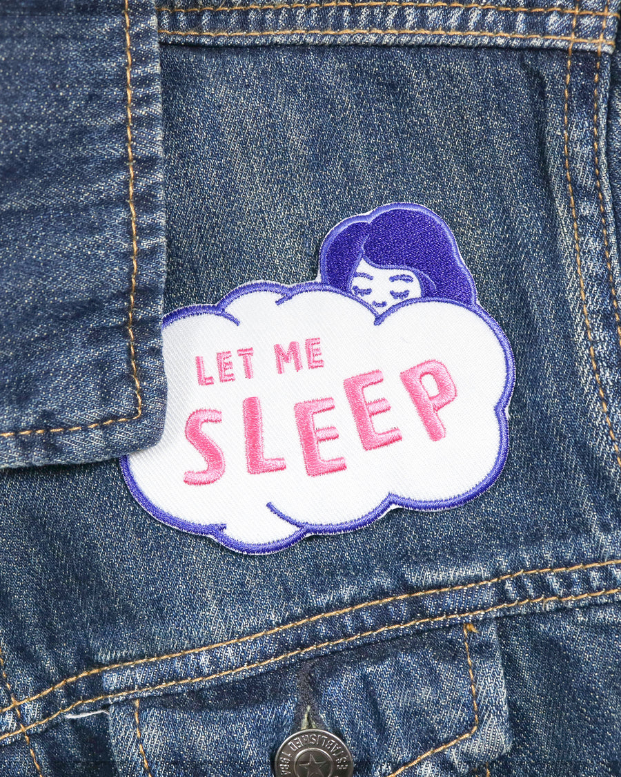 Let Me Sleep Iron On Patch - Patches - Lizzy Watkins