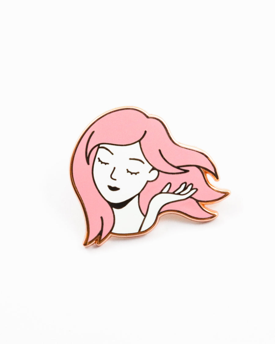 As If (Rose Gold) Enamel Pin - Pins - Lizzy Watkins