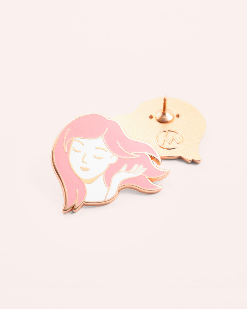As If (Rose Gold) Enamel Pin