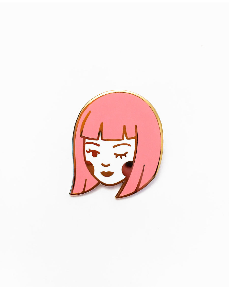 Little Flirt Enamel Pin - Pins - Lizzy Watkins