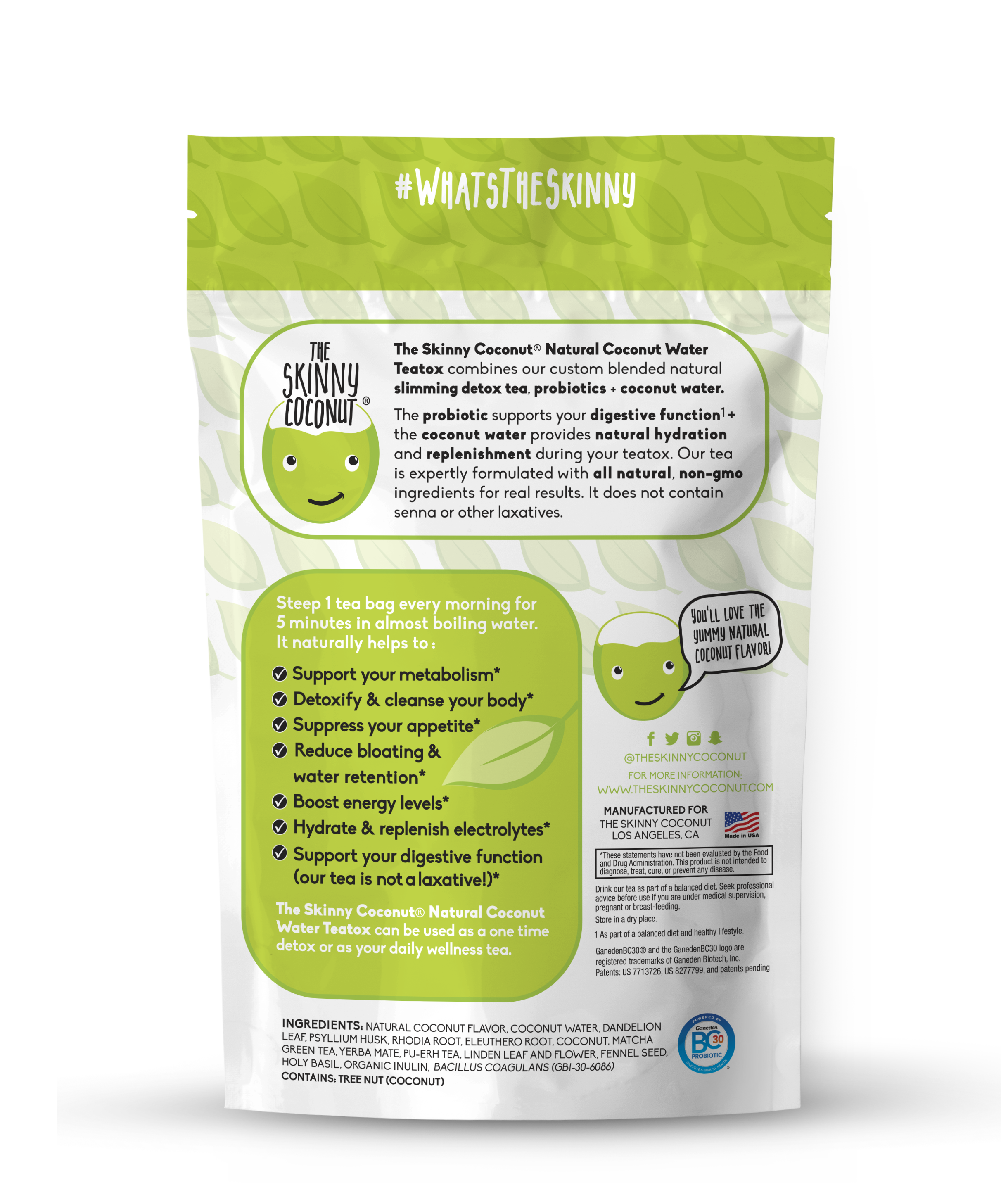 28 DAY COCONUT WATER TEATOX