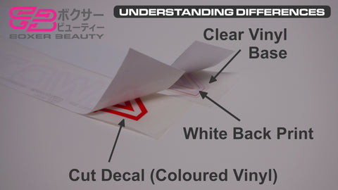 Boxer Beauty Understanding Sticker and Decal Differences