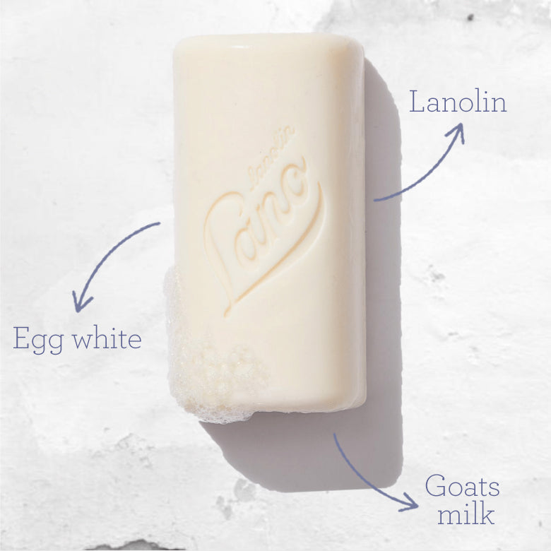 Lanolin Egg White and Goats Milk Cleansing Bar ingredients
