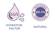 99.4% Natural 3.5/5 Hydration Factor