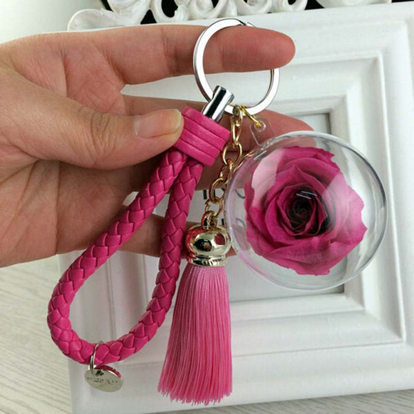 Zuri Rose Globe Bag charm