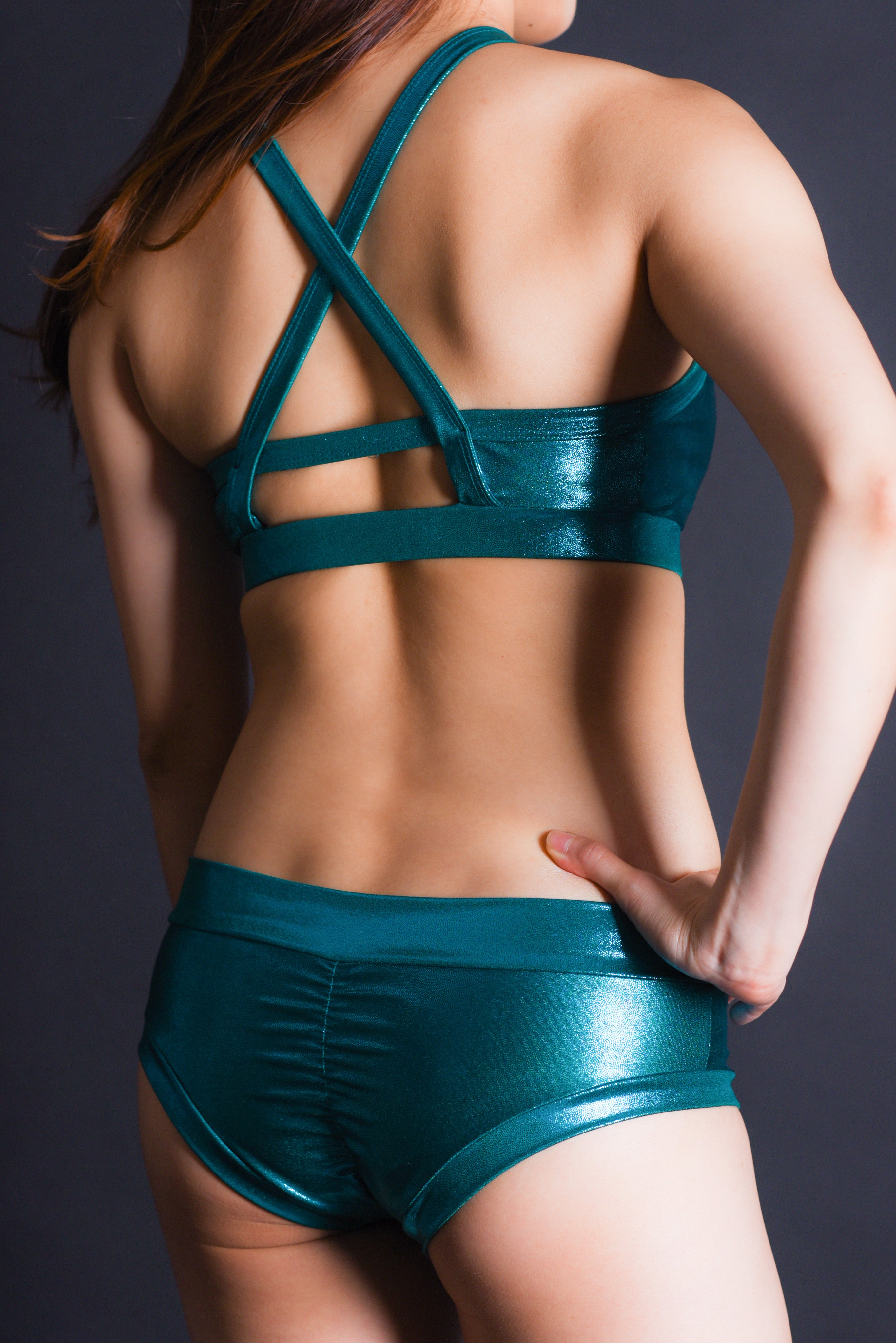 Emerald Halter Top
