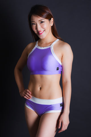 Infinity Shorts - Lilac/White