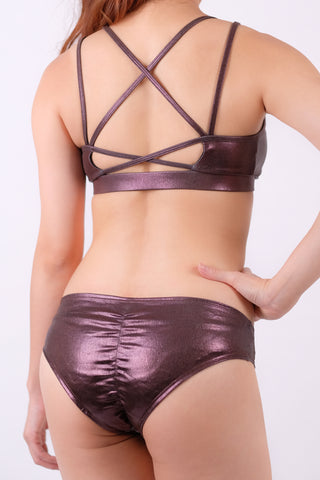 Double-Cross Bra - Chocolate