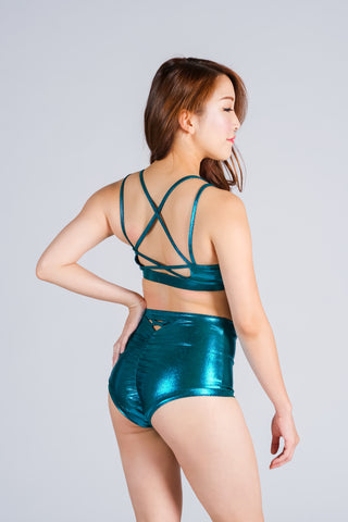 Emerald High-Waist Shorts