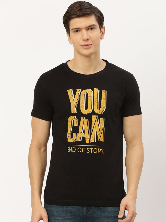 You Can Black T-Shirt - The Chambal
