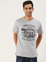 Born To Ride Grey T-Shirt - The Chambal
