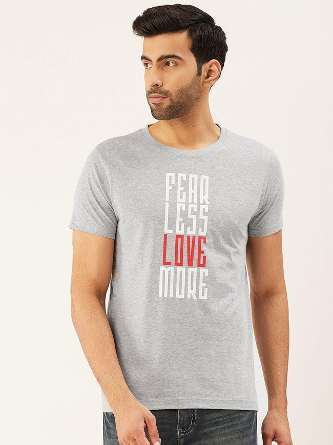 Fear Less Grey T-Shirt - The Chambal