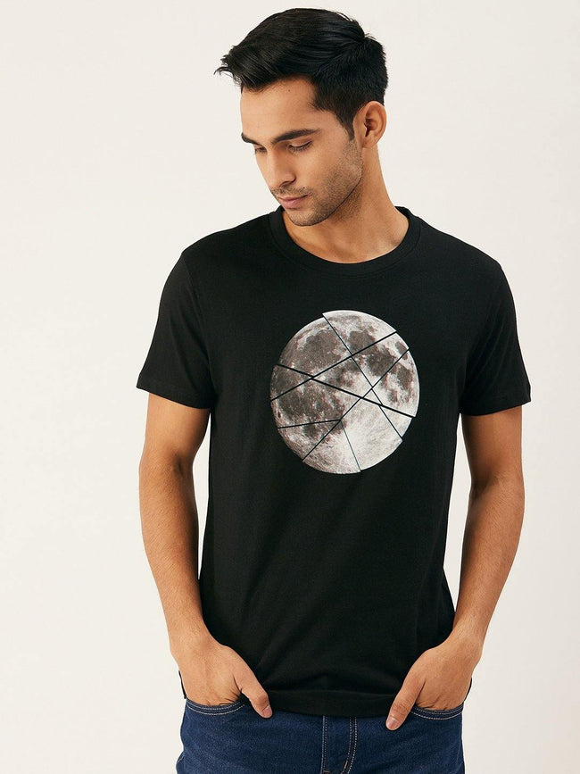 Moon Sliced Black T-Shirt - The Chambal