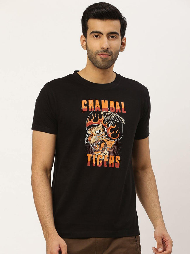Chambal Tigers Black T-Shirt - The Chambal