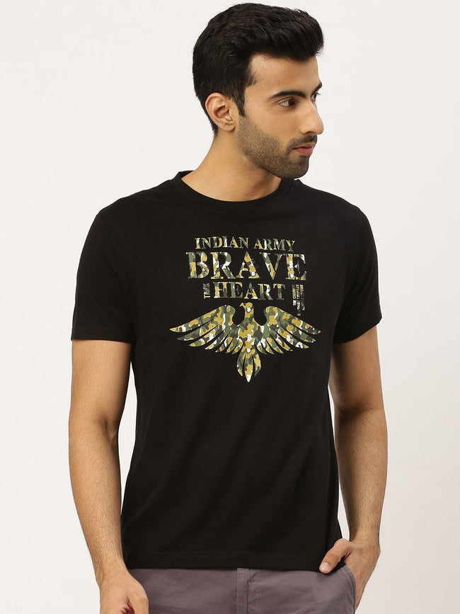 Brave Heart Black T-Shirt - The Chambal