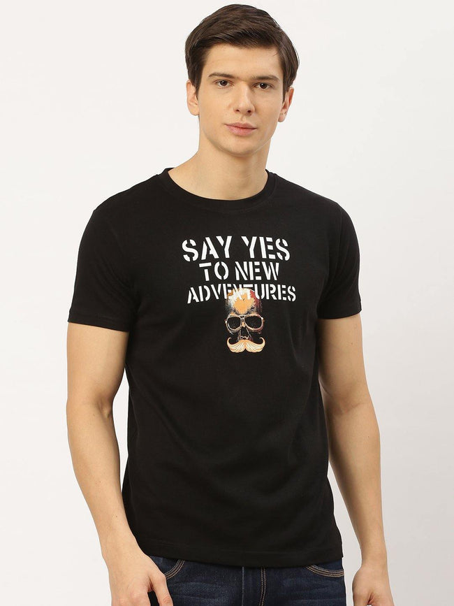 Adventures Black T-Shirt - The Chambal