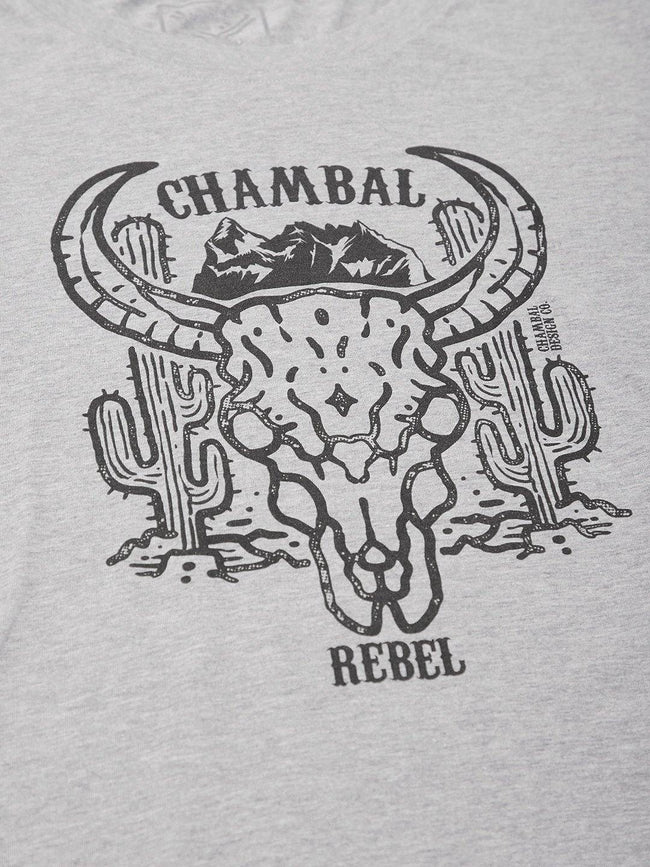 Chambal Head Grey T-Shirt - The Chambal