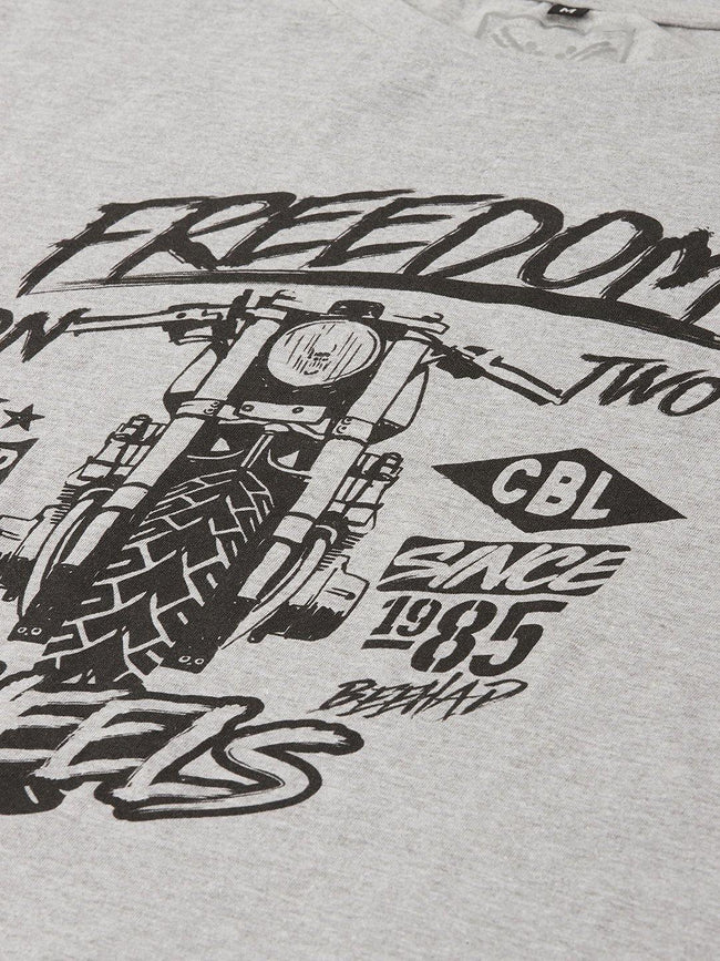 Freedom Wheels Grey T-Shirt - The Chambal