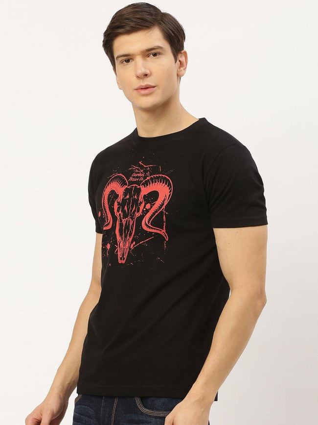 Bleed Red Black T-Shirt - The Chambal
