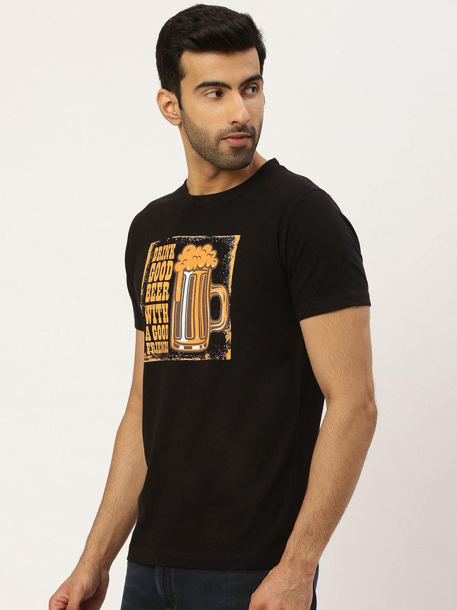 Good Friends Black T-Shirt - The Chambal
