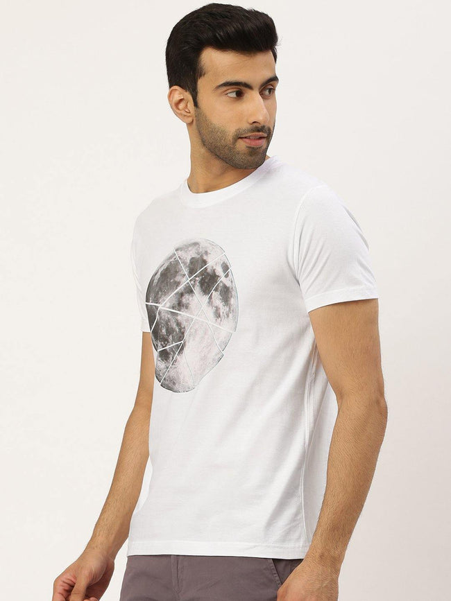 Moon Sliced White T-Shirt - The Chambal