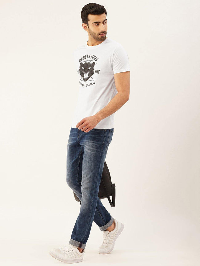 Rebellious Rider White T-Shirt - The Chambal