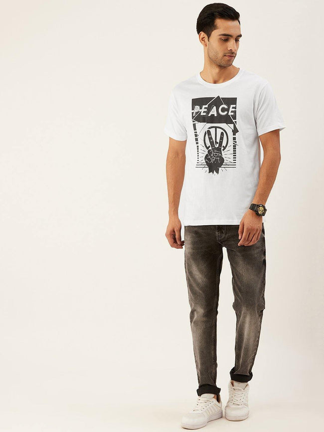 Peace White T-Shirt - The Chambal