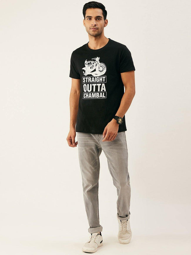Straight Black T-Shirt - The Chambal