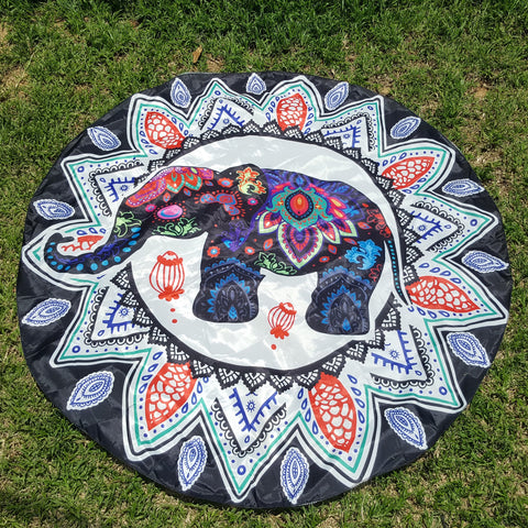 Indian Elephant Mandala Tapestry