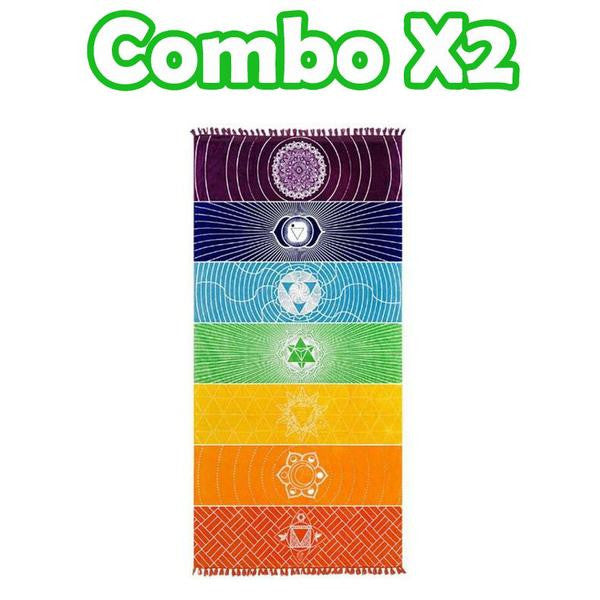 Rainbow 7 Chakras Throw Mat