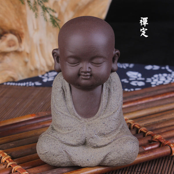 Ceramic little monk Buddha
