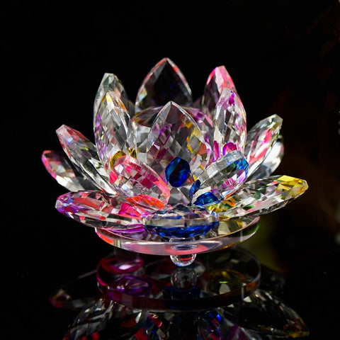 Crystal Glass Lotus Flower, Feng Shui