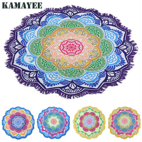 Beach Towel Circle Indian Bohemian Mandalas Tapestry Totem Lotus