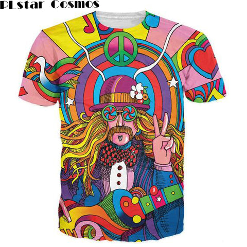 Musician T-Shirt 3d colorful a groovy hippie unisex t shirt